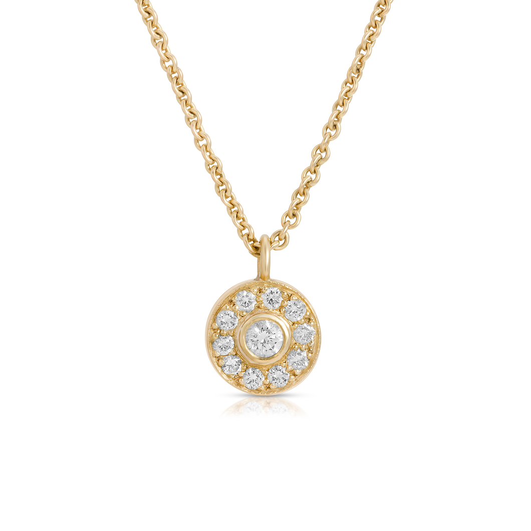 Diamond Medallion Necklace