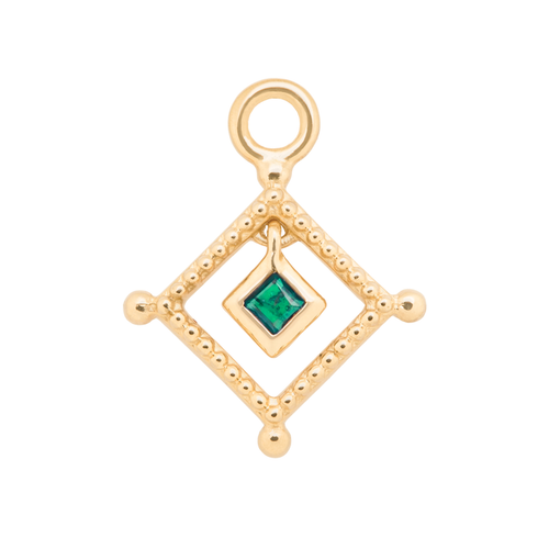 Emerald Bead Trim Charm