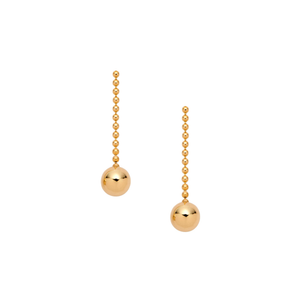 Gold Short Ball Drop Earrings