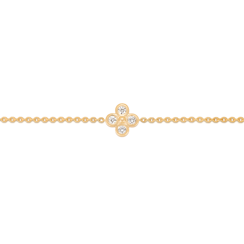 Mini Diamond Clover Bracelet