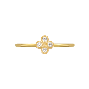 Mini Diamond Clover Ring