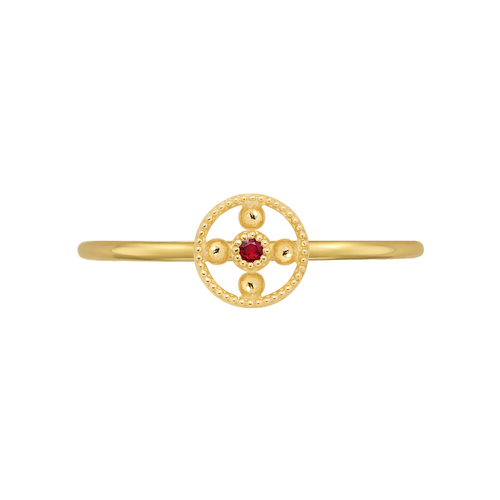 Mini Ruby Bead Ring