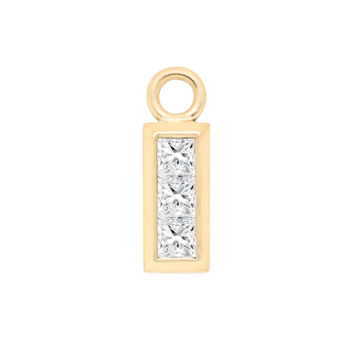 Diamond Princess Cut Charm