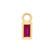 Ruby Baguette Charm