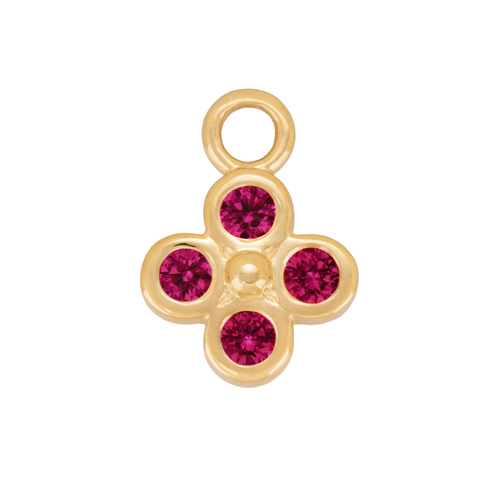 Ruby Clover Charm
