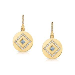 Sapphire & Diamond Drop Earrings