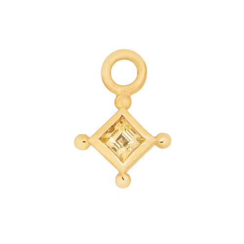Yellow Square Charm