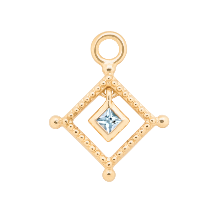 Aquamarine Bead Trim Charm