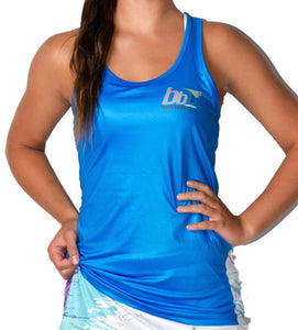 Ladies 'Splosh' Electric Blue Singlet