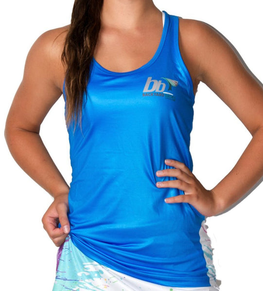 """Splosh Electric Blue"" Singlet"