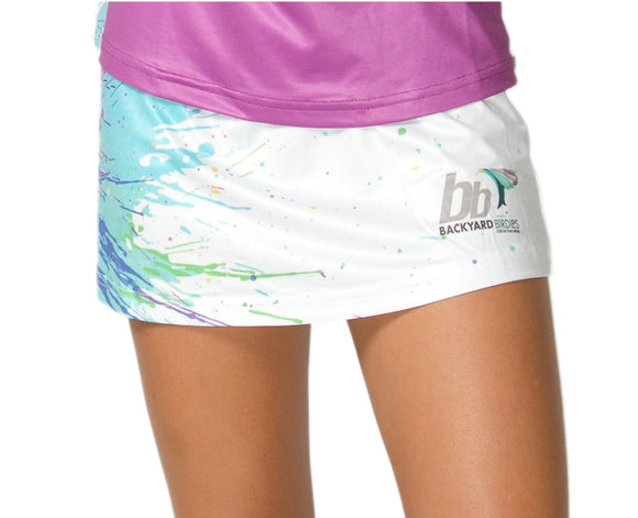 Ladies 'Splosh' Purple Skort