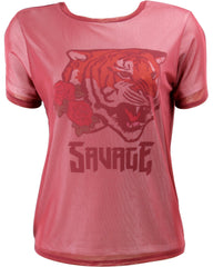 Disney - Women's Tiger Save Roses Mesh Layer T Shirt - V.I.M. - 1