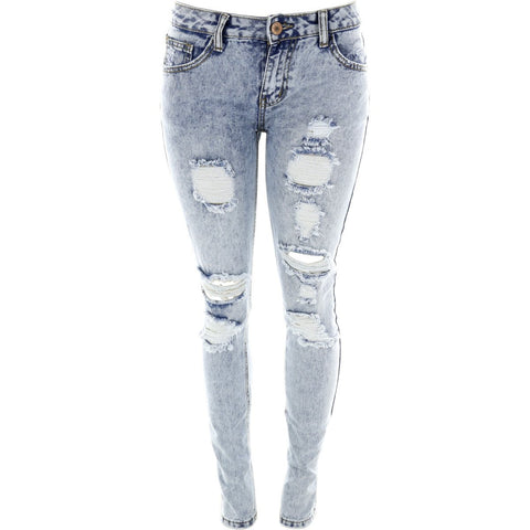 Destiny Apparel - Women's Ripped Acid Jeans - V.I.M. - 1