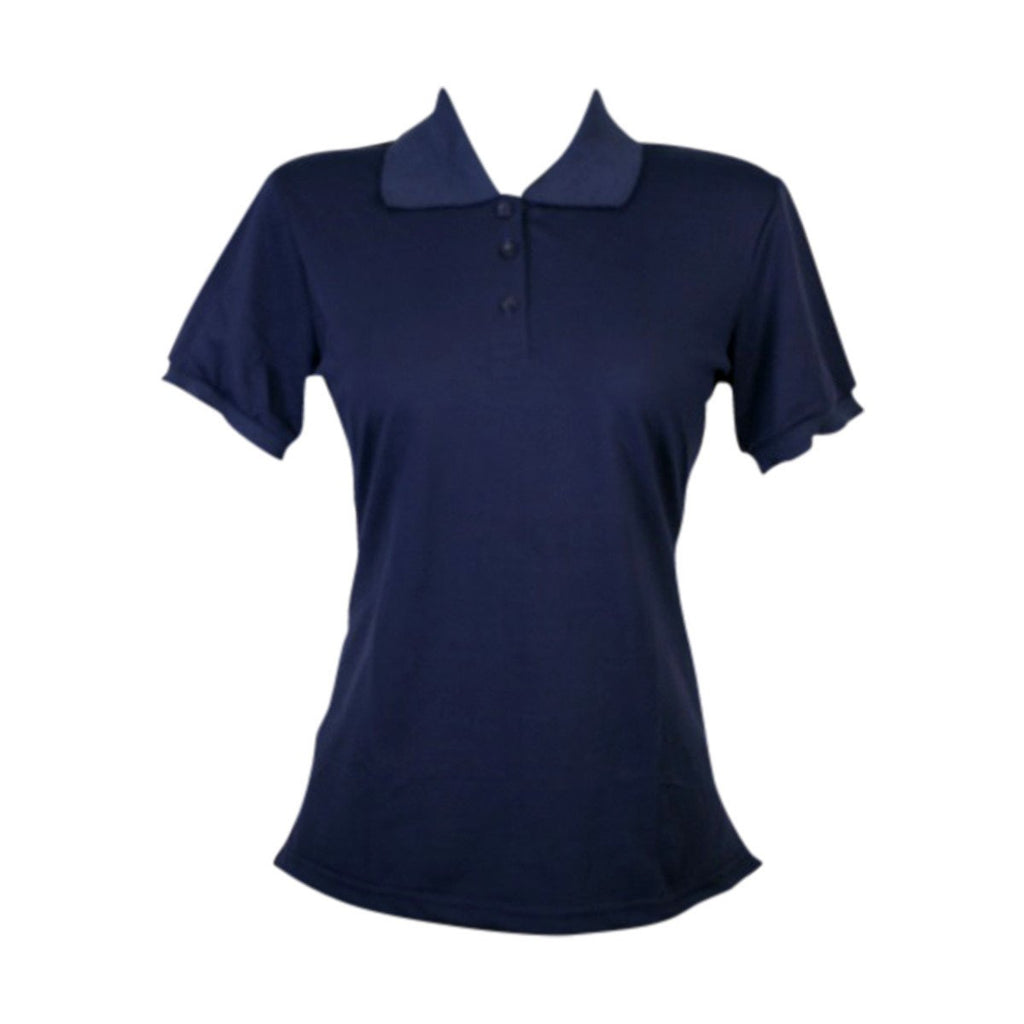 Daily Wear - Women's Short Sleeves Basic Bts Polo - Navy - V.I.M. - 1