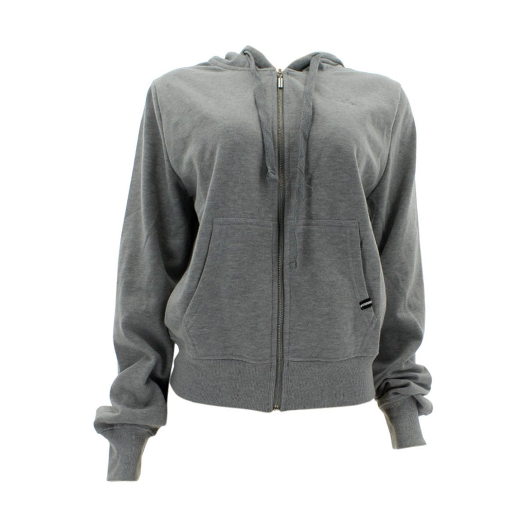 Floose - Women's Basic Fleece Hoodie Sweatshirt - Heather Grey - V.I.M. - 1