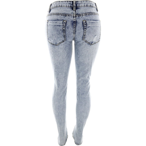 Destiny Apparel - Women's Ripped Acid Jeans - V.I.M. - 2