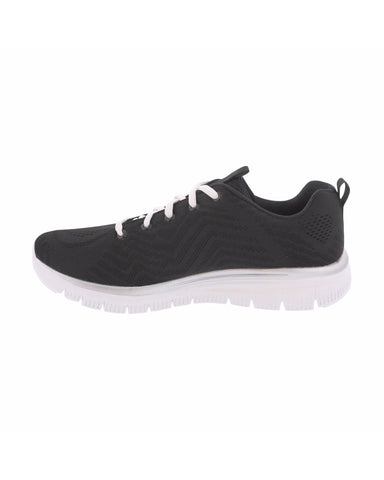 Skechers - Women's Get Connected Sneaker - Black/White - V.I.M. - 2