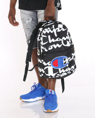 CHAMPION Champion C Life Script Backpack - Black White - ShopVimVixen.com
