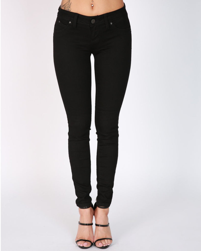 IRRESISTIBLE FIVE POCKETS MUST HAVE JEANS - BLACK