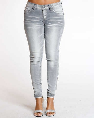 Five Pocket Columbian Jeans - Grey