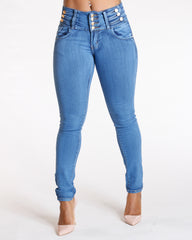 VIM VIXEN Three Button Push Up Jeans - ShopVimVixen.com