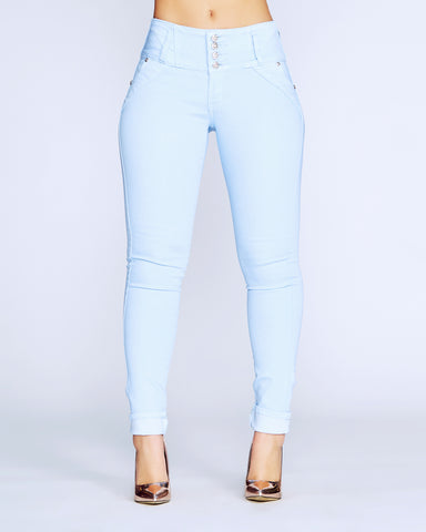MAKE ME WEAK COLUMBIAN JEANS - Sky Blue
