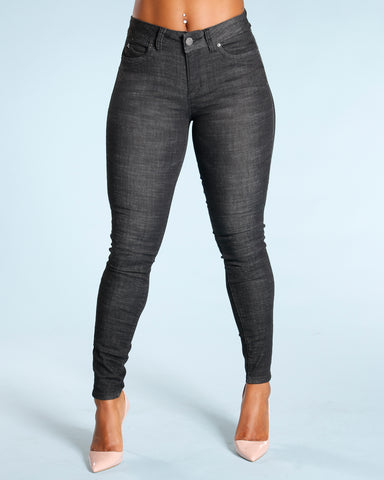 Colombian Push Up Jeans - Black