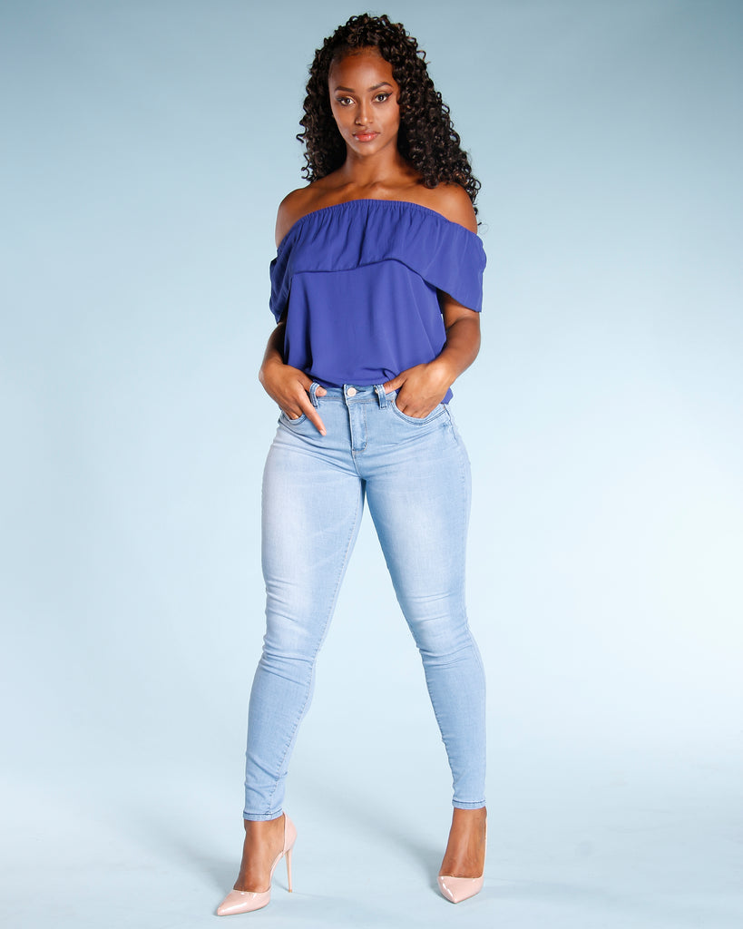 YMI Colombian Push Up Jean - Light Blue - ShopVimVixen.com