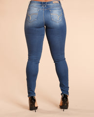 YMI Ripped Colombian Jean - Dark Blue - ShopVimVixen.com