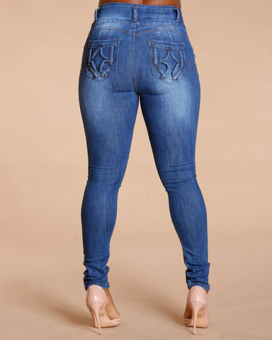 THREE BUTTON COLOMBIAN JEANS