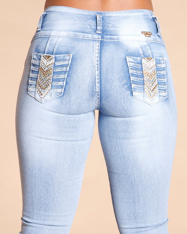 Acid Four Button Colombian Jeans