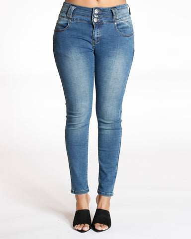Tea Three Button Colombian Jean