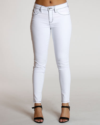 White Colombian Midrise Jean