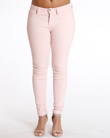 Pink Colombian Midrise Jean