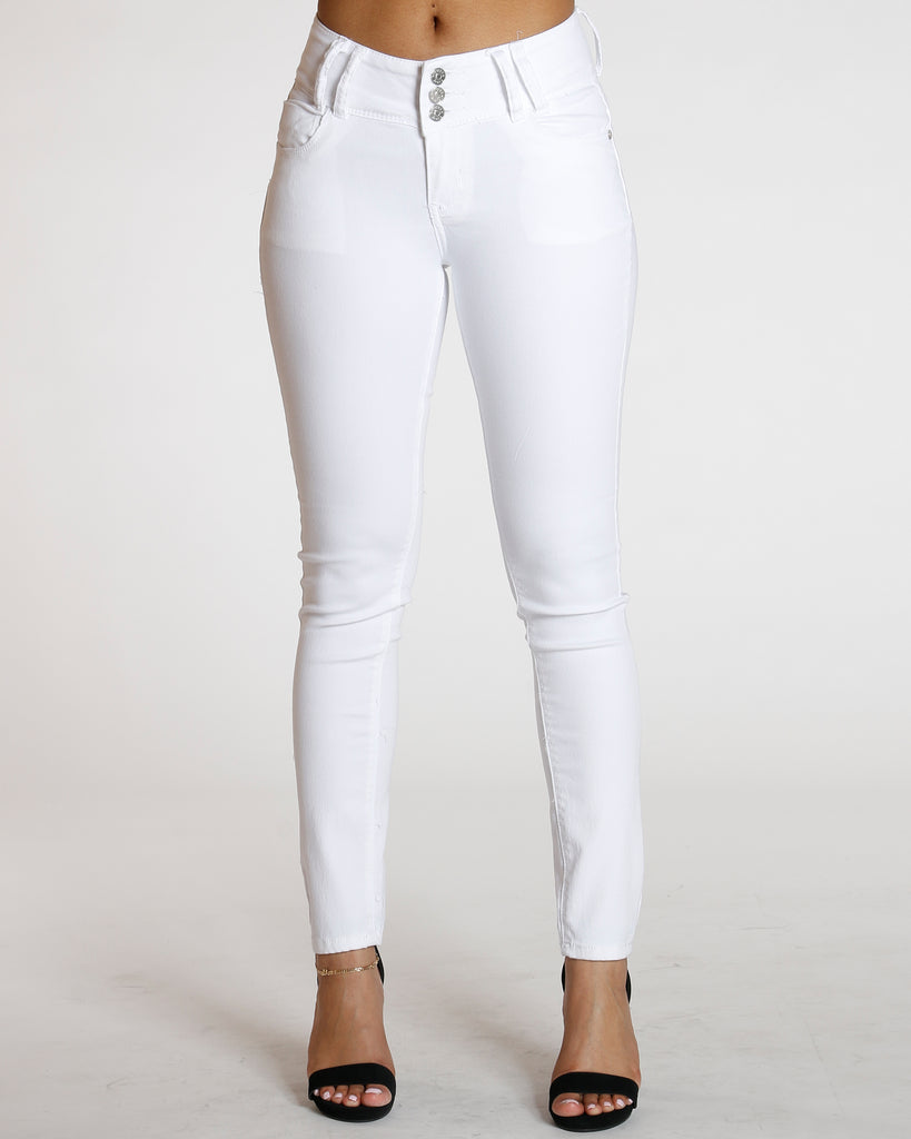 White Three Colombian Jean