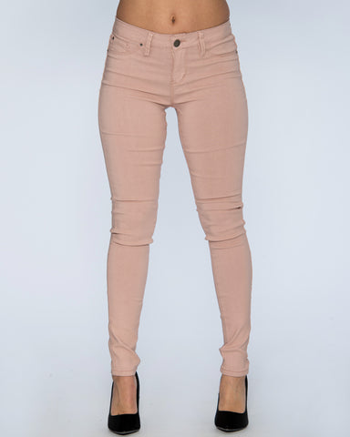 HYPERSTRETCH SKINNY PANTS - DUST PINK