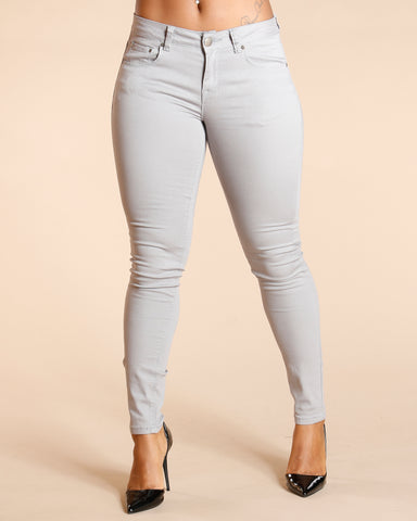 One Button Stretch Pants