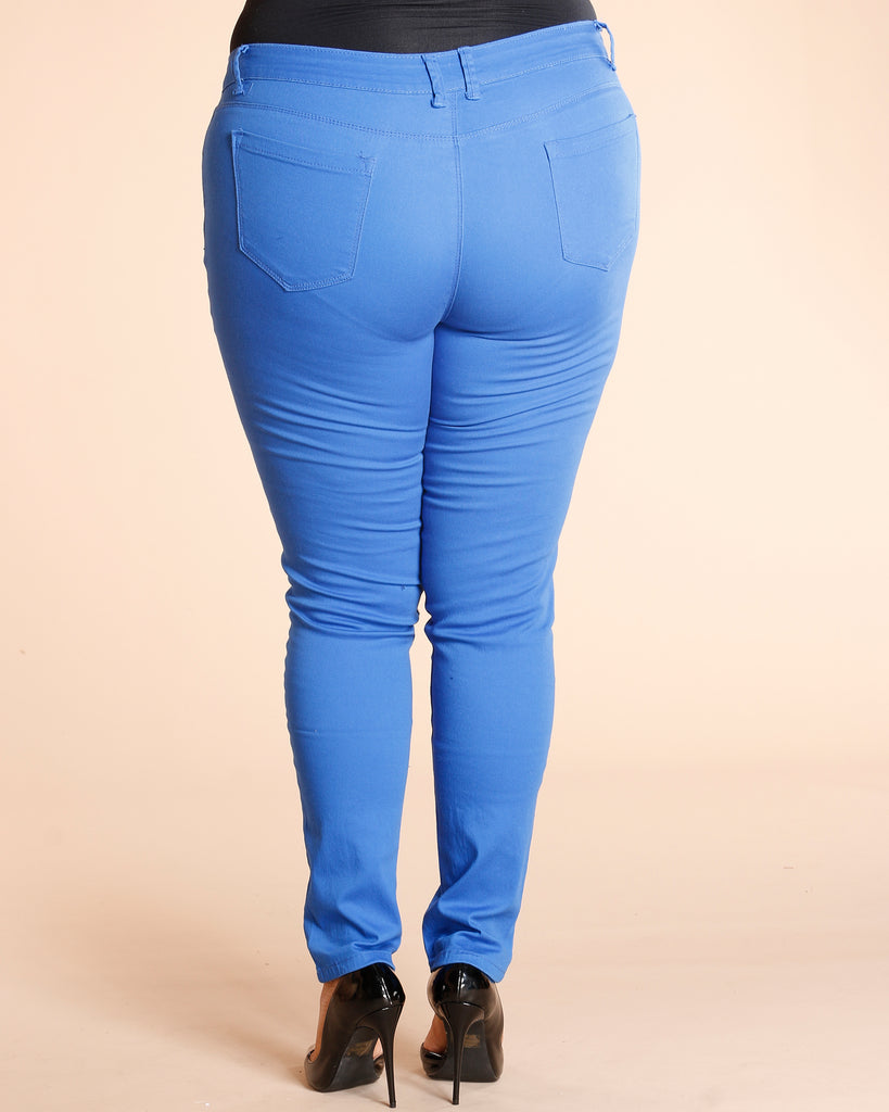 Basic Stretch Pants - Royal
