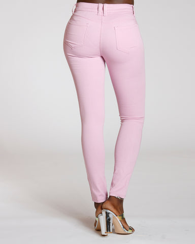 Mauve Stretch Twill Pants
