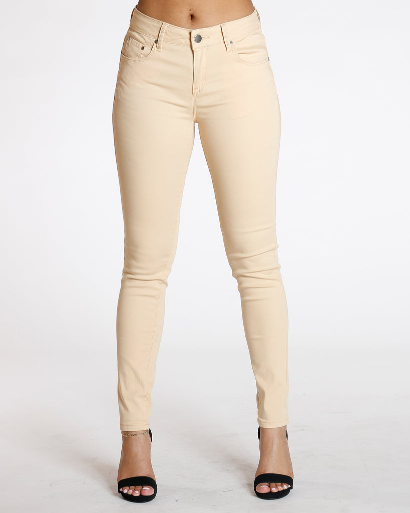 Destiny Apparel Must Have Classic Stretch Twill Pant - Beige - ShopVimVixen.com