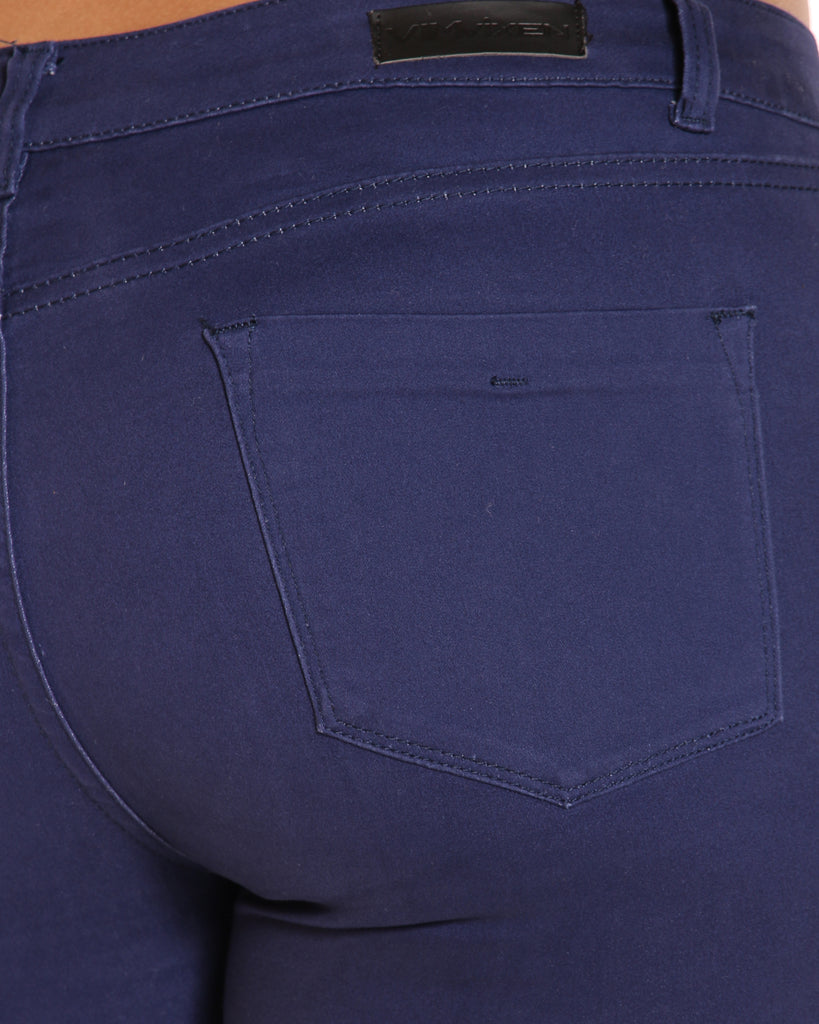 VIM VIXEN Emerald 5 Pocket Stretch Pant - Navy - ShopVimVixen.com