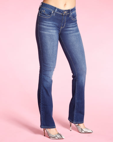 BOOT CUT JEANS - DARK BLUE