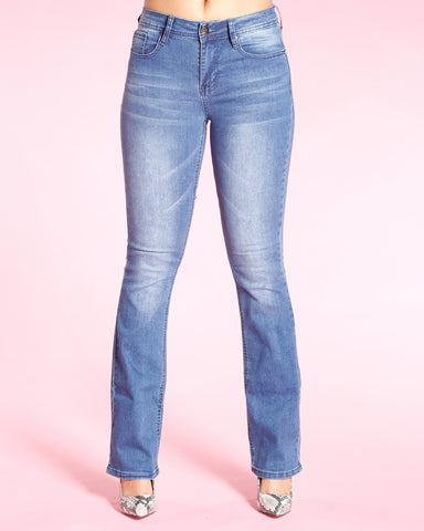 BOOT CUT JEANS - MEDIUM BLUE