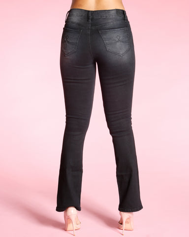 BOOT CUT JEANS - BLACK
