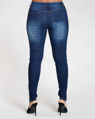 Side Rhinestone Taping Jean