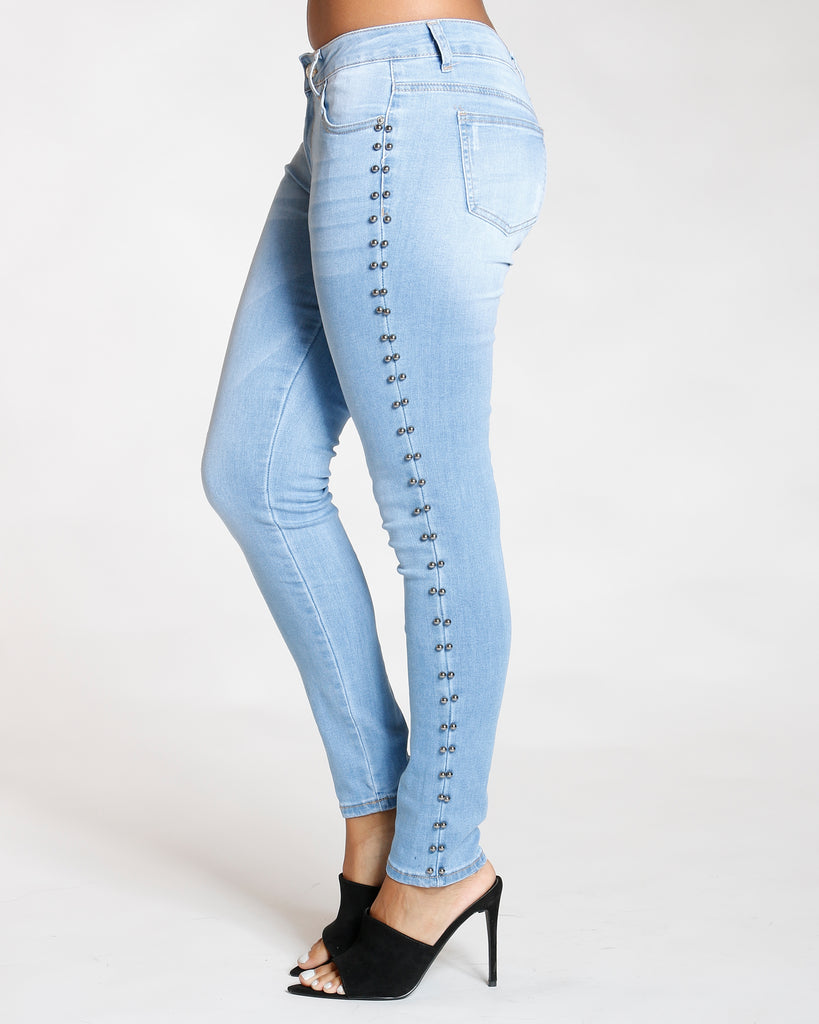 Side Pearl Taping Jean