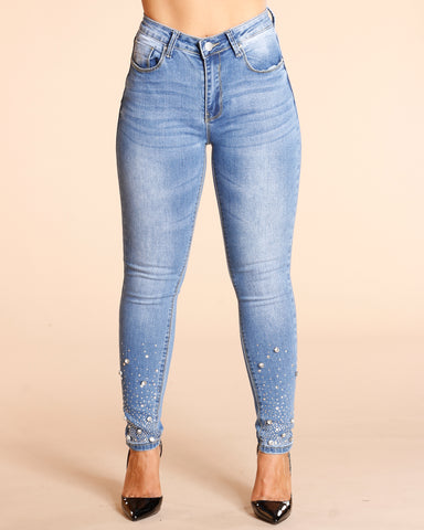 Faded Wash Stone Jeans