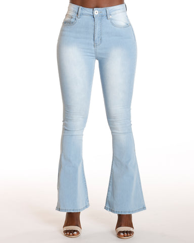 Cloe Bell Bottom Fray Hem Jean
