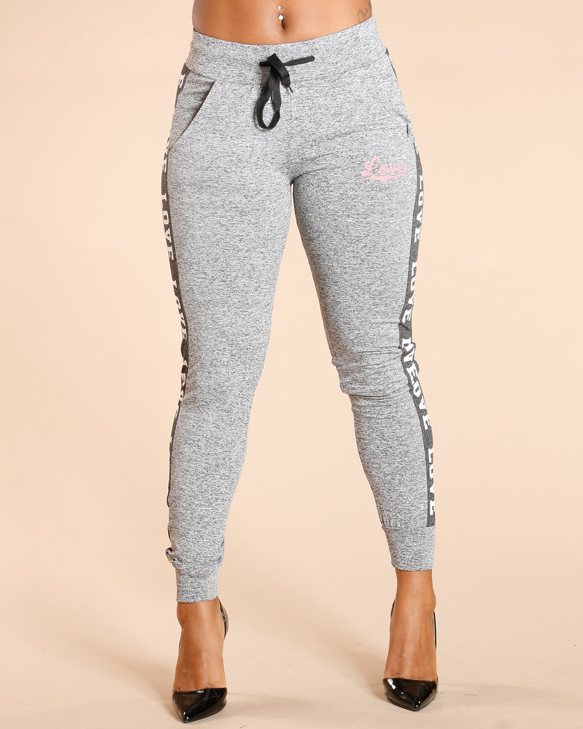 FRENCH TERRY LOVE FLEECE JOGGER (AVAILABLE IN 6 COLORS)