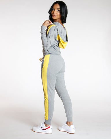 Yellow YUMMY SIDE STRIPE JOGGER